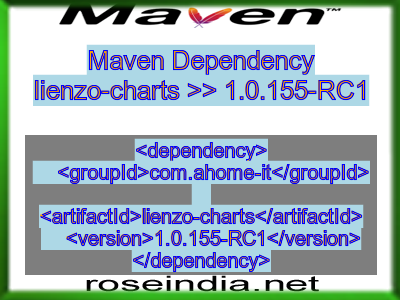 Maven dependency of lienzo-charts version 1.0.155-RC1