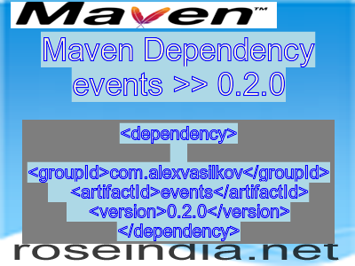 Maven dependency of events version 0.2.0