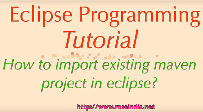 How to import existing maven project in Eclipse?