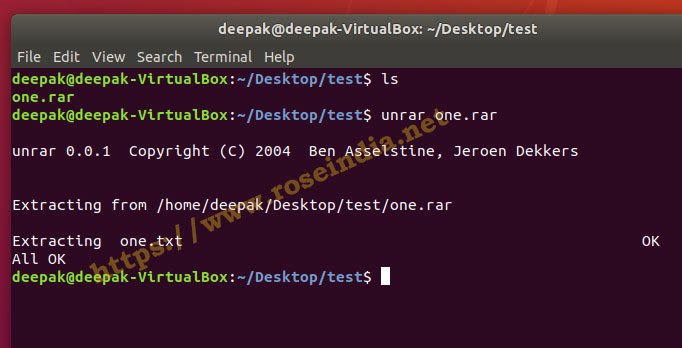 Unrar Command Not Found In Linux