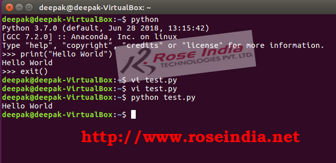 Running python code in file from command line