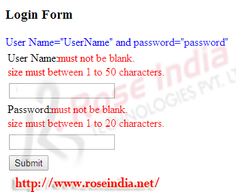 Spring 4 MVC Login form example