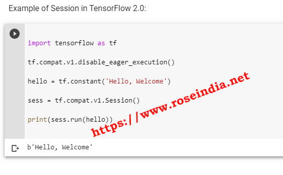 TensorFlow 2.0 Session Example