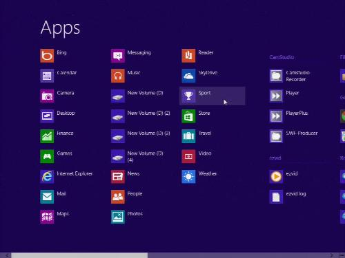 Windows 8 Start screen Management