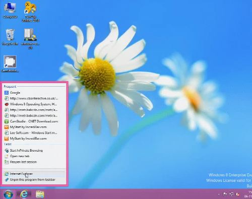 Windows 8 Proxy Setting