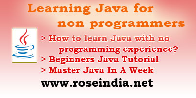 Learning Java for non programmers