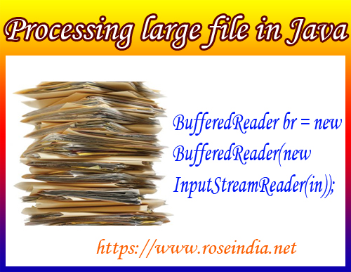 Processing Large file in Java