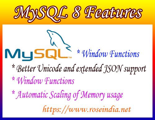 MySQL 8 Features - Better Unicode and extended JSON support