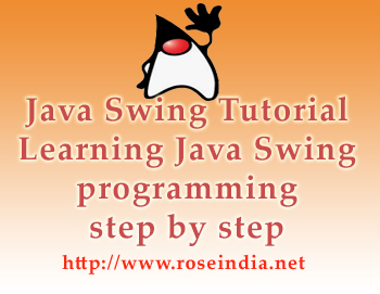 Java Swing tutorials to learn swing step by step