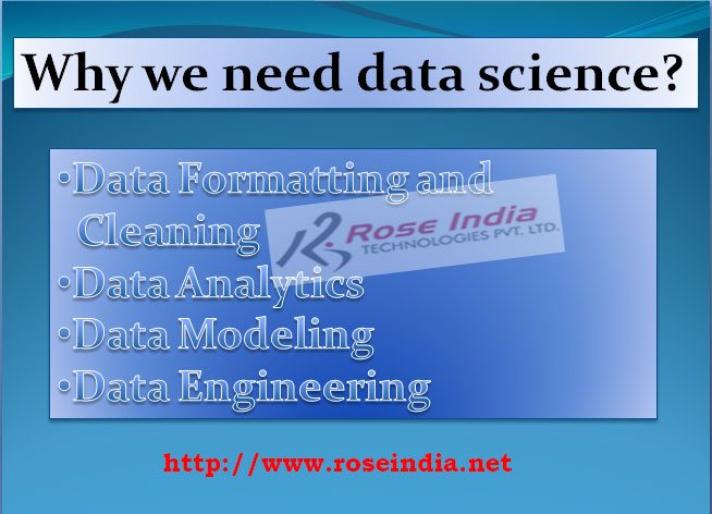 Why we need data science?