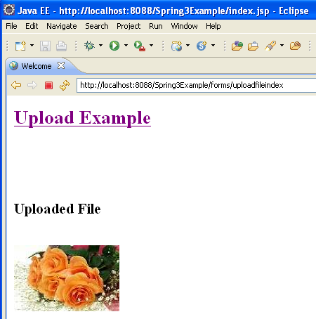 Spring 3 MVC File Upload, Spring MVC File Upload