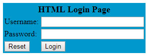 HTML Login Page Code