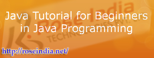 Java Tutorial for Beginners in Java Programming