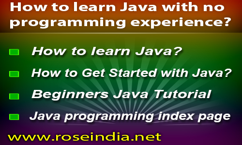 How to learn Java with no programming experience?