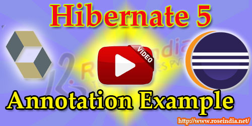 Hibernate 5 Annotation tutorial