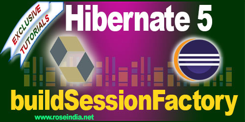 Example of building SessionFactory in Hibernate 5