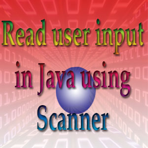Example of of reading user input in Java using Scanner